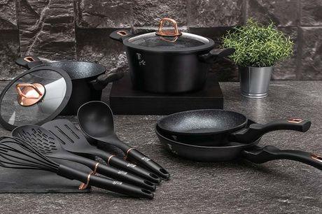 Luxe 10-delige pannenset Maak jouw keuken assortiment compleet met deze complete 10-delige pannenset! Met deze set heb jij voor iedere maatijd de juiste pan in huis.