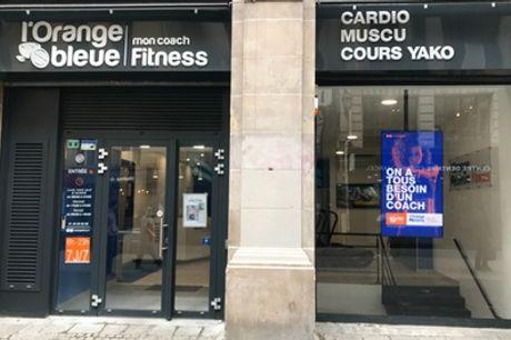 Forfait accès journée ou 1, 3 ou 6 mois pour 1 personne à la salle de sport L'Orange Bleue Paris Les Halles