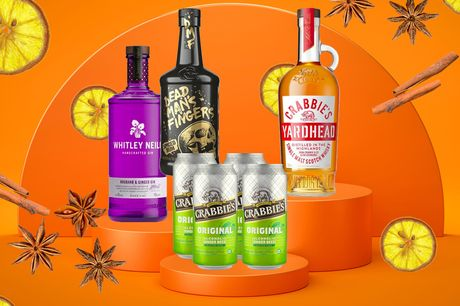 £22 for a four-pack of Crabbies Ginger Beer from Sadler's Peaky Blinder with a 70cl bottle of Dead Man's Fingers Spiced Rum, Crabbie's Yardhead Single Malt Scotch Whisky, Whitley Neill Rhubarb and Ginger Gin or Sadler's Peaky Blinder Irish Whiskey