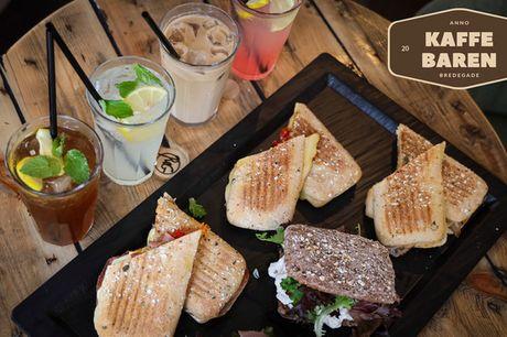 Sandwich/salat + drik. Kaffebaren i hjertet af Aalborg har den perfekte kombi