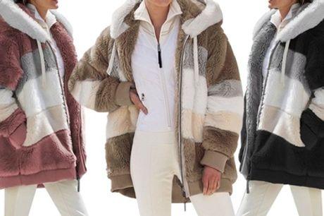 Warme jas in de kleur en maat naar keuze, incl. verzending