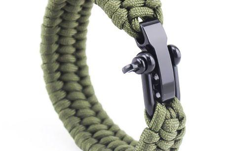 Knitted Polyester Bracelet Green
