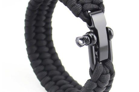Knitted Polyester Bracelet Black