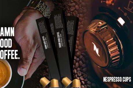 Voucher 120 Damn Good Coffee capsules Geschikt voor Nespresso<br /> Kwaliteit koffie van Heren van de koffie<br /> Inclusief gratis verzendkosten