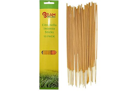 30x Citronella Incense Sticks with Wooden Holder     The scent is also ideal for repelling insects from your home     One stick can last up to 12 hours so you really get your money's worth.     Comes with a wooden holder so you can burn your incense st