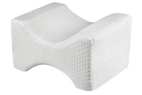 Contour Memory Foam Leg Pillow - 3 Designs     This pillow is contoured to the shape of your legs so you can position it comfortably     Memory foam supports whilst adapting to the shape of your body     Simply place between the lower legs and lay on y