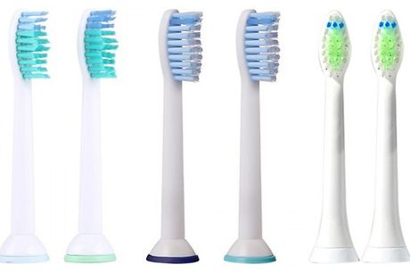 4, 8, 12 or 16-Pack of Compatible Philips Sonicare Toothbrush Heads - 3 Options     With end-rounded nylon bristles that aim to clean the tooth surface and in between     Designed to remove pesky plaque without causing irritation to your gums and teeth