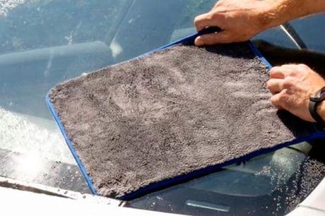 Absorberende mikrofiberhåndklæde.  40 x 40 cm Dette absorberende mikrofiberhåndklæde er et krav til bilvasken til 2 liter vand og gør det til en fornøjelse at vaske bil.