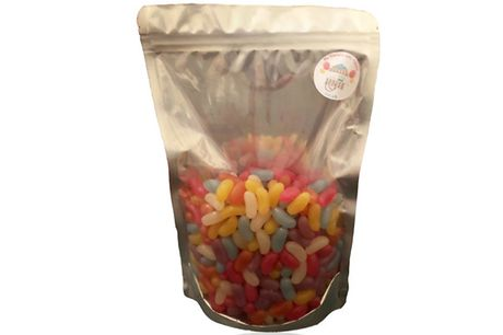 Pick & Mix Sweets 750g Pouch - 9 Varieties     Or white chocolate snowies (vegetarian),milk chocolate jazzies(vegetarian)     Sour watermelons (gluten  and  dairy free), dolly mixture (gluten free)     And wine gums (gluten  and  dairy free) or jell