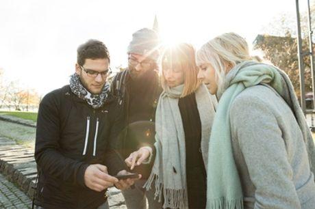 Rätseltour per SMS für bis zu 6 Personen durch München, Düsseldorf oder Berlin mit planlos.in (25% sparen*)