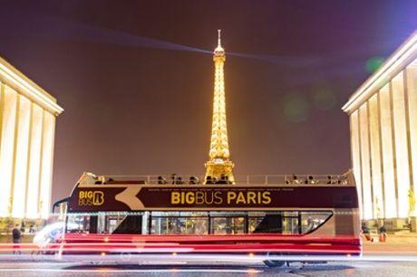 Visite guidée de Paris en bus, classic, premium ou deluxe pour 1 enfant ou adulte avec Big Bus Tours Paris