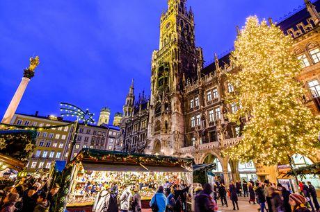 Julerejse til München. Togrejse ned gennem Tyskland til juleudsmykkede München - inkl. 4 overnatninger og morgenmad på hotel samt byvandring