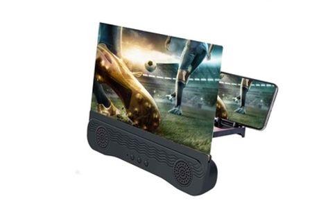 Amplificador de audio y vídeo con lente 3D para smartphones