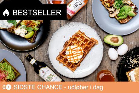 Topanmeldt og nyåbnet - Frit valg for 2. Sødt, salt og sindssygt lækkert - 2 valgfrie vafler+drikke!