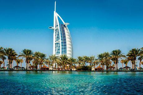 Dubai: 1 uges badeferie  .  Dubai: TRYP by Wyndham Dubai**** Det 4-stjernede TRYP by Wyndham er hotellet, som danner rammen om din afslappende ferie 7 nætter, morgenmad hver morgen samt mad på flyet.