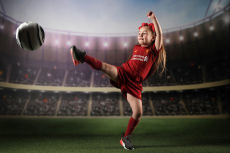 """£9 instead of £69 for a kid's 45-minute football fanatic photoshoot at Xposure Studios, Liverpool, including a private viewing session and one 7"""" x 5"""" print - save 87%"""