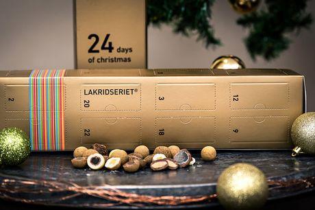 Julekalender fra Lakridseriet. Mums! Lakrids, chokolade, vingummi - den perfekte værtindegave!