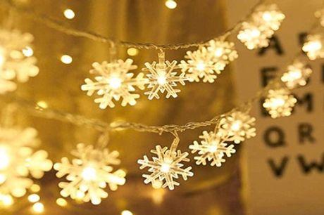 Kerstverlichting in de vorm van sneeuwvlokken, inclusief verzending