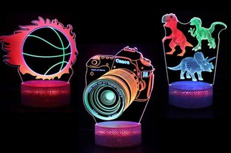 1, 2 of 3 3D nachtlampjes via Justyling