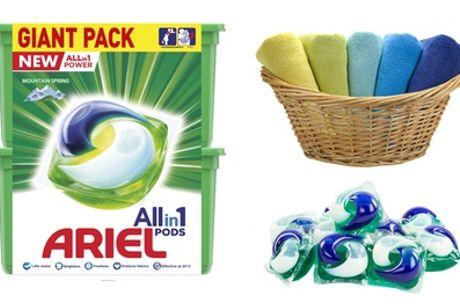 Grootverpakking Ariel Detergent met 80 all-in-1 capsules, incl. verzending
