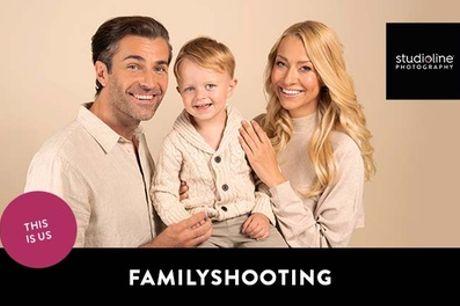 FAMILY/KIDS-FOTOSHOOTING-ERLEBNIS + Datei & Abzug + Goldcard bei studioline Photography (bis zu 77% sparen*)