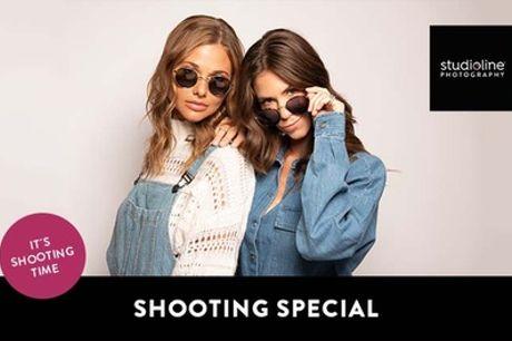 60 Min.Fotoshooting-Erlebnis inkl. 1-5 Lieblingsbildern + Goldcard bei studioline Photography (bis 85% sparen*)