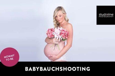 60 Min. 9MONTHS-Fotoshooting-Erlebnis + Bilder & Goldcard bei studioline Photography (bis zu 77% sparen*)