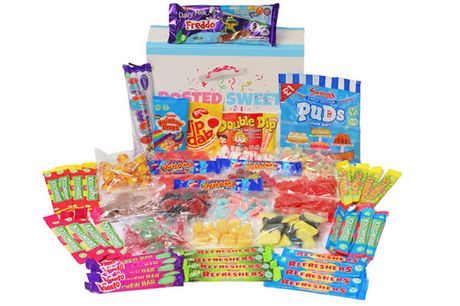 The Ultimate Sweet Hamper Gift Set - Up to 62 Items!     Includes brands such as Cadburys, Dip Dab, Swizzels, Drumstick, Refreshers and more     Unwrap chocolate bars, lollipops, jelly sweets,liquorice, mints, fudge and more.     Whether you have a sw