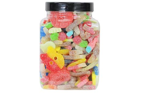 1.7kg Fizzy Pick & Mix Sweetie Jar. Feast on your favourites with this1     Bursting with a huge variety of yummy fizzy sweets     Perfect for sharing out with friends or saving for a special occasion     Please see Full Details for product specificat