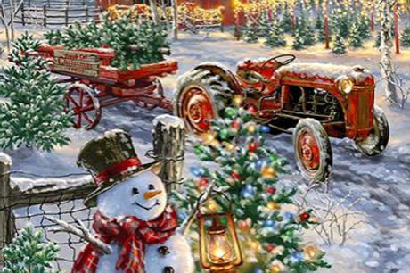 """Diamond Paint - Snemand henter juletræer på traktor 40x60 cm. Snemand henter juletræer på traktor Sættet indeholder følgende: Et sæt inkluderer diamant, lim, limværktøjer, diamantholder, et maleri, en farveboks.  Produktet leveres med farvede firkantede """""""