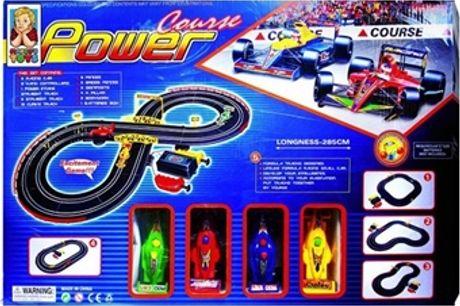 Pista de Corrida de Carros Power Course com 2 Comandos, 4 Carros, 4 Formatos de Pista e Muito Mais desde 12€. ENVIO IMEDIATO. PORTES INCLUÍDOS.