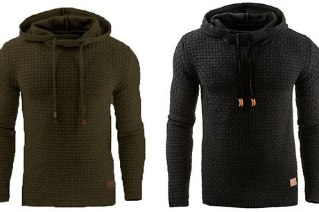 Men's Waffle Knit Winter Hoodie - 8 Colours & 7 Sizes     Available in men's sizes medium to 5XL     This stylish knitted hoodie is the perfect cosy layer for the winter months     Waffle style knit creates an eyecatching design - pair it with jeans