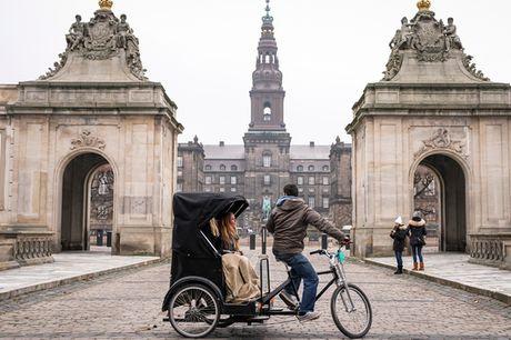 Guidet Cykeltaxa. 1½ times anderledes oplevelse for 2 pers. - Date, vennerne el. en gave