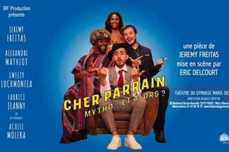 """2 places pour """"Cher parrain : Mytho ….et alors ?"""" au Théâtre du gymnase Marie Bell à Paris"""