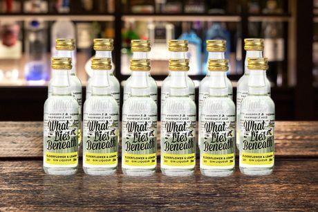 £12 for twelve miniature (5cl) bottles of What Lies Beneath elderflower & lemon gin liqueur from Sadler's Peaky Blinder Distillery