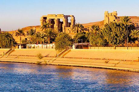 Egypten: 7-9 nt. rundrejse og krydstogt - med fly - 2 overnatninger i Kairo med morgenmad - 3 overnatninger på Nilkrydstogt med helpension - 2 eller 4 overnatninger på 4-stjernet hotel med morgenmad
