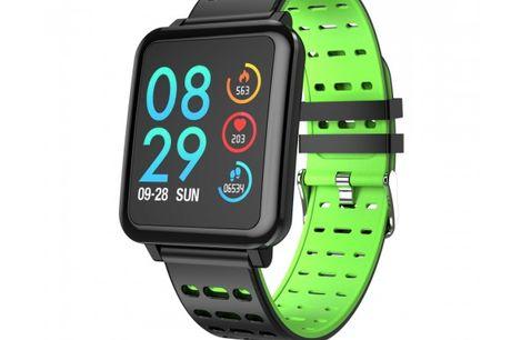 Smart Watch - T2. Fitness Tracker med alle de basale funktioner, km-registrering og sms/opkaldsinfo. Smart Watch T2 er en cool aktivitetstracker, der holder styr på alle de basale funktioner som skridttæller, pulsmåling, blodtryks- og iltoptagelsesmåling