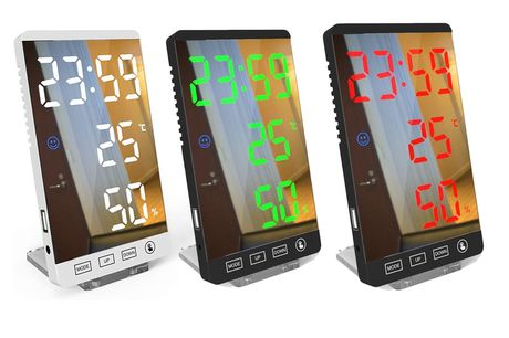 £14.99 instead of £39.99 for a temperature humidity LED mirror desk electronic alarm clock from Shop In Store - save 63%