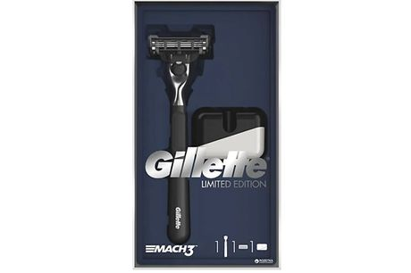 Gillette Mach3 Razor Limited Edition Gift Set     Sleek design for an elevated shaving experience     Razor fits all Mach3 blade refills     Created with 3-blade technology for glide and comfort     5 x Microfins contour to the shape of your face