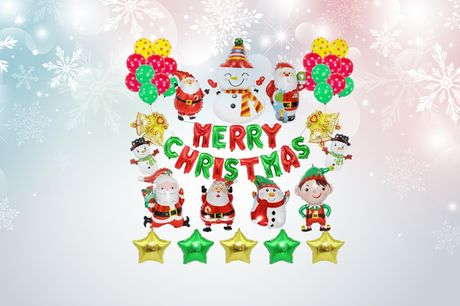 £9.99 instead of £29.99 for a foil letter Merry Christmas balloon decoration set from Pinkpree - save 67%